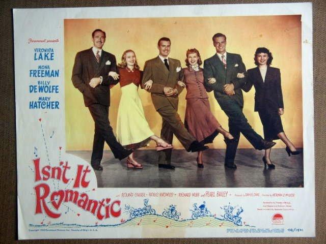 FC16 Isn't It Romantic VERONICA LAKE 1948 Lobby Card