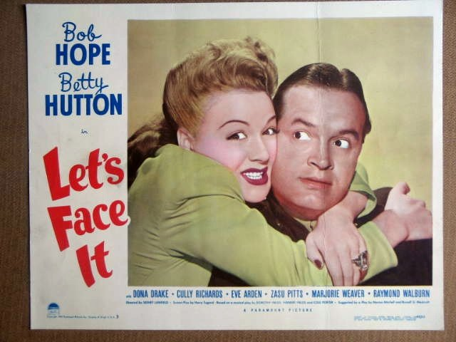 FC20 Let's Face It BOB HOPE/BETTY HUTTON Lobby Card