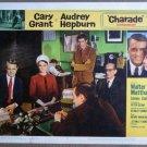 FD17 Charade CARY GRANT/AUDREY HEPBURN Lobby Card