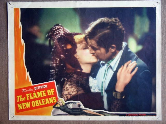 FD21 Flame Of New Orleans MARLENE DIETRICH Lobby Card