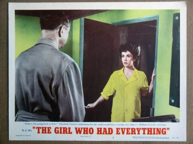 FD24 Girl Who Had ELIZABETH TAYLOR 1953 Lobby Card