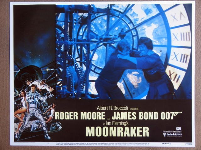 FD31 Moonraker ROGER MOORE/JAMES BOND 007 Lobby Card