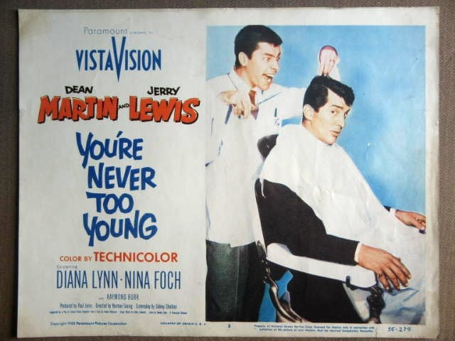 FD49 You're Never To DEAN MARTIN/JERRY LEWIS Lobby Card