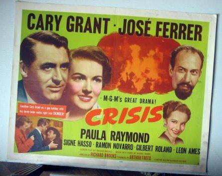 FE01 Crisis CARY GRANT/JOSE FERRER Half Sheet Poster