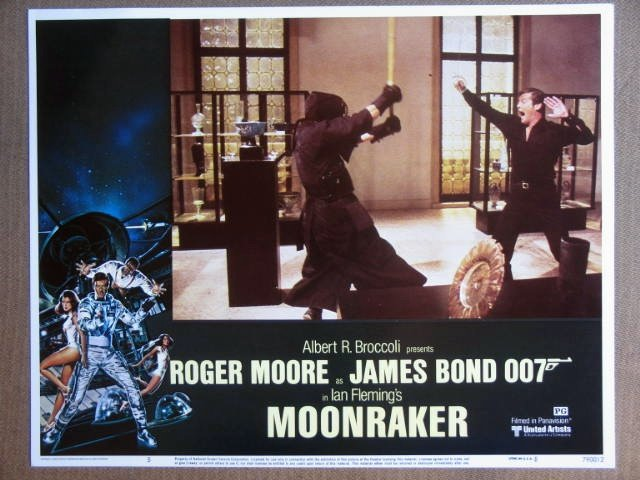 FE28 Moonraker ROGER MOORE/JAMES BOND 007 Lobby Card