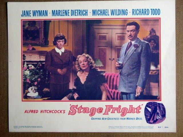 FF43 Stage Fright MARLENE DIETRICH/WYMAN Lobby Card