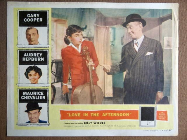 FG27 Love In Afternoon AUDREY HEPBURN 1957 Lobby Card