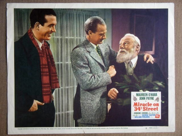 FG31 Miracle On 34th St JOHN PAYNE/E GWENN Lobby Card