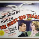 FG49 First 100 Yrs ROBERT MONTGOMERY Title Lobby Card