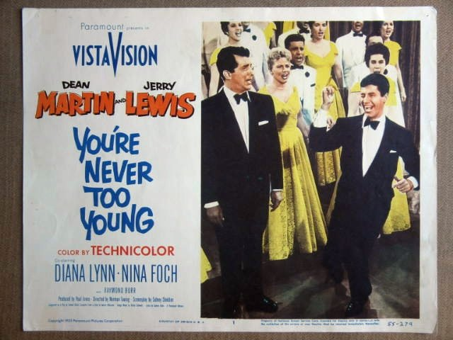 FH02 You're Never To JERRY LEWIS/DEAN MARTIN Lobby Card