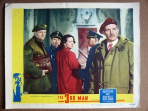 FH38 The Third Man VALLI  Orig '49 classic Lobby Card