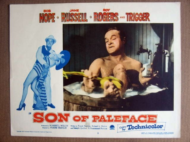 FI32 Son Of Paleface BOB HOPE (in bathtub) Lobby Card