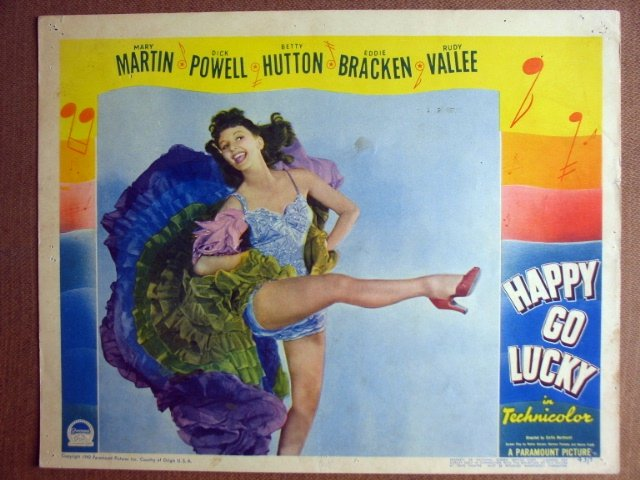 FJ14 Happy Go Lucky MARY MARTIN 1943 Lobby Card