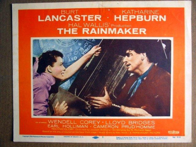 FJ26 Rainmaker KATHARINE HEPBURN/B LANCASTER Lobby Card