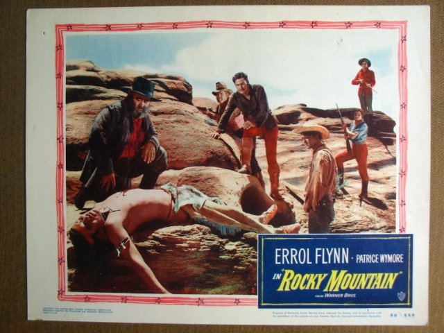 FJ29 Rocky Mountain ERROL FLYNN 1950 Lobby Card