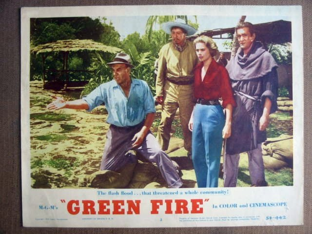 FK24 Green Fire GRACE KELLY Original 1954 Lobby Card