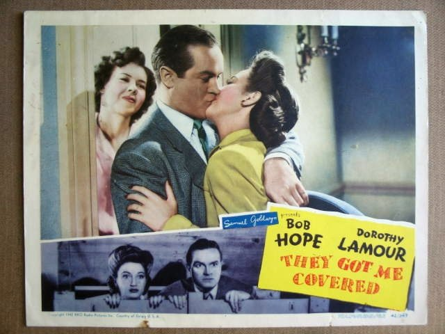 FK42 They Got Me Covered BOB HOPE/D LAMOUR Lobby Card