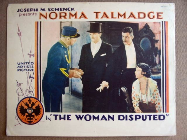 FK48 Woman Disputed NORMA TALMADGE '28 Lobby Card