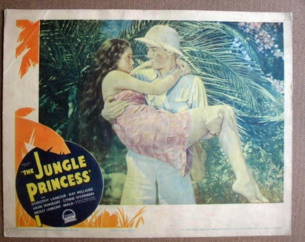 FL25 Jungle Princess DOROTHY LAMOUR 1936 Lobby Card