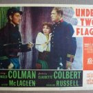 FL47 Under 2 Flags CLAUDETTE COLBERT/COLMAN Lobby Card