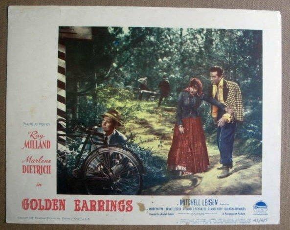 FM12 Golden Earrings MARLENE DIETRICH 1947 Lobby Card
