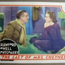FM14 Last Of Mrs Cheney JOAN CRAWFORD 1937 Lobby Card