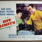 FM23 Off Limits BOB HOPE/MICKEY ROONEY Lobby Card