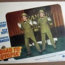 FM30 Road To Utopia BOB HOPE/BING CROSBY Lobby Card