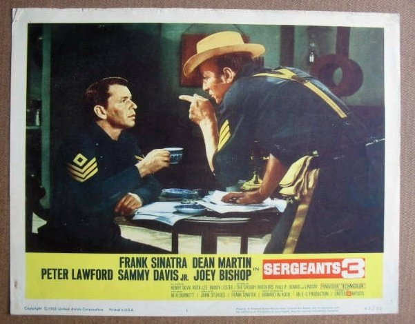 FM33 Sergeants 3 FRANK SINATRA/DEAN MARTIN Lobby Card