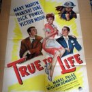 FM52 True To Life MARY MARTIN/D POWELL One Sheet Poster