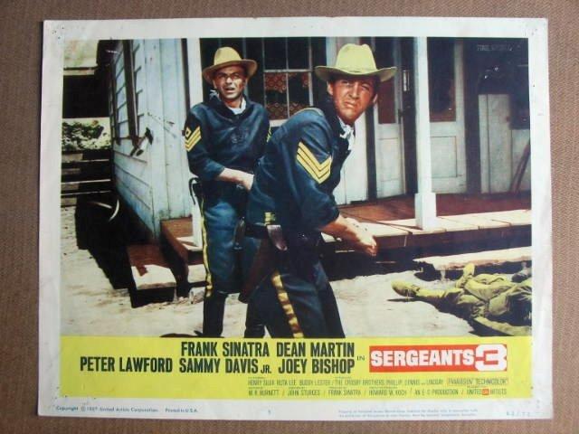 FN34 Sergeants 3 FRANK SINATRA/DEAN MARTIN Lobby Card