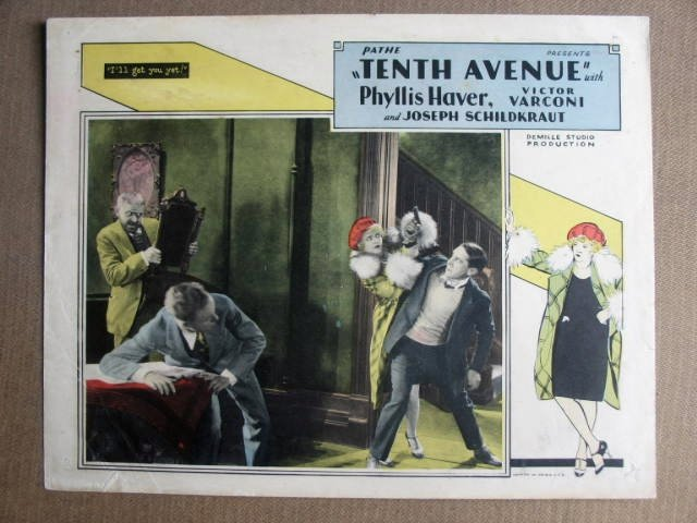 FN38 Tenth Avenue JOSEPH SCHILDKRAUT 1928 Lobby Card