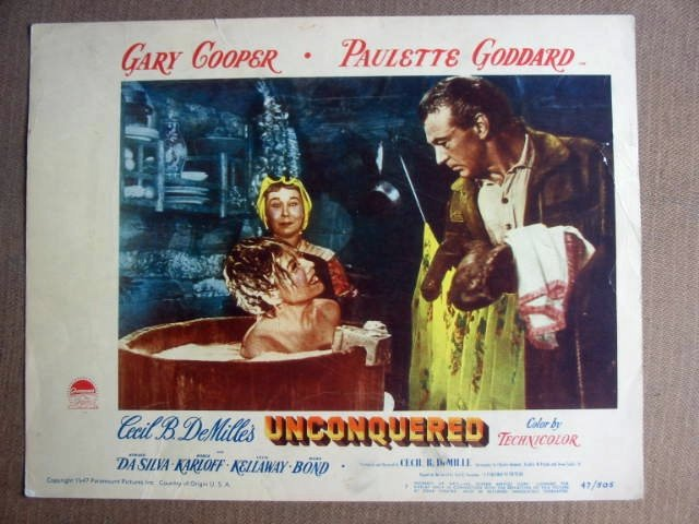 FN43 CECIL B DeMILLE Unconquered GARY COOPER Lobby Card