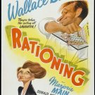FN48 Rationing WALLACE BEERY/HIRSCHFELD  1 Sheet Poster