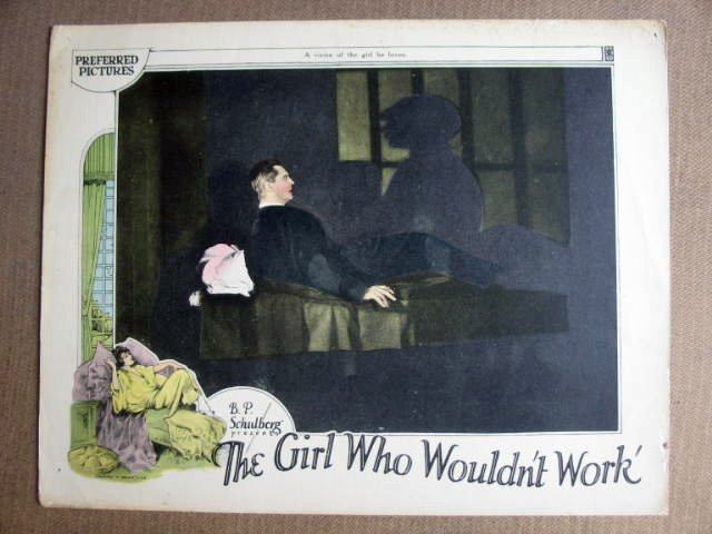 FO10 Girl Who Wouldn't LIONEL BARRYMORE 1925 Lobby Card