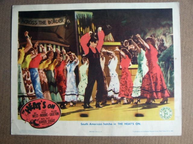 FO12 Heat's On MAE WEST/GAXTON & MOORE Lobby Card