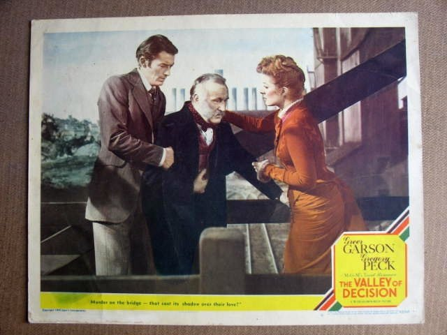 FO24 Valley Of Decision GREGORY PECK/GARSON Lobby Card
