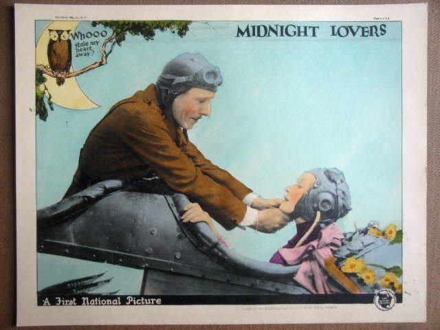 GN31 Midnight Lovers ANNA Q NILSSON/L STONE Lobby Card