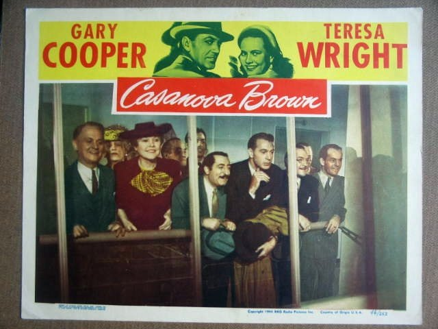GK05 Casanova Brown GARY COOPER 1944 Lobby Card