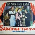 GK34 Saratoga Trunk INGRID BERGMAN/ROBSON Lobby Card