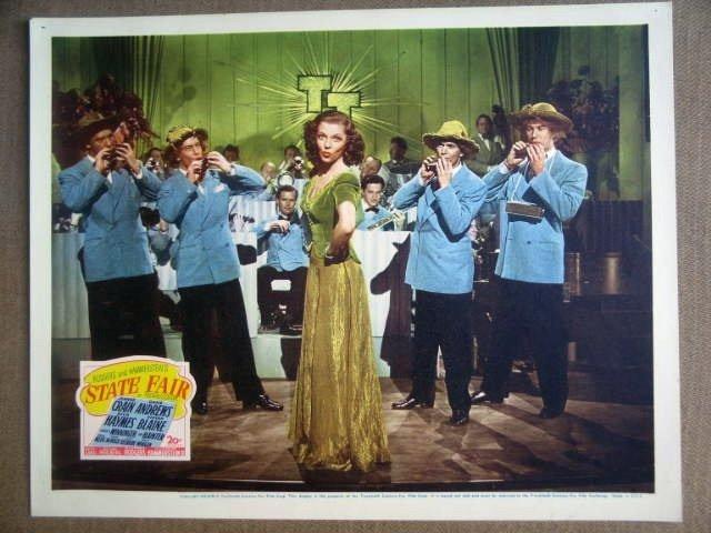 GL39 State Fair VIVIAN BLAINE Original 1945 Lobby Card