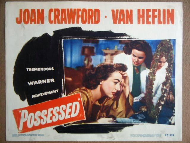 GM34 Possessed JOAN CRAWFORD Portrait Lobby Card