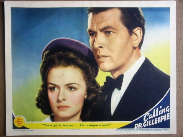 GN12 Calling Dr Gillespie DONNA REED 1942 Lobby Card
