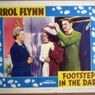 GP10 Footsteps In The Dark ERROL FLYNN 1941 Lobby Card