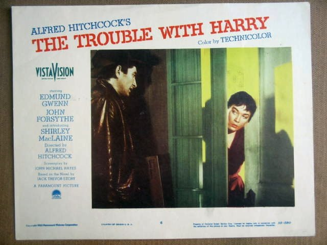 GJ49 Trouble With Harry SHIRLEY MacLAINE Lobby Card