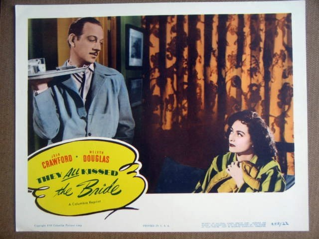 GK43 They All Kissed Bride JOAN CRAWFORD Lobby Card