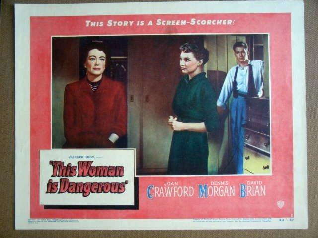GK44 This Woman Is Dangerous JOAN CRAWFORD Lobby Card