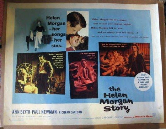 GM07 Helen Morgan Story PAUL NEWMAN Half Sheet Poster