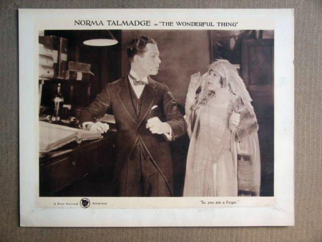 FS48 Wonderful Thing NORMA TALMADGE 1921 Lobby Card