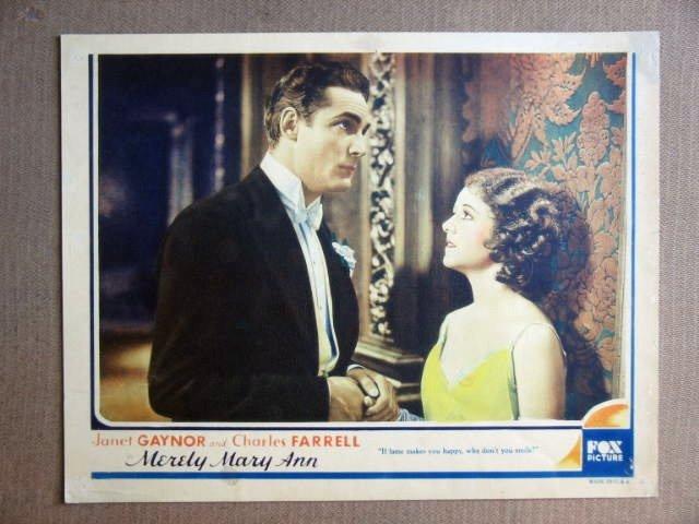 FS30 Merely Mary Ann JANET GAYNOR Portrait Lobby Card